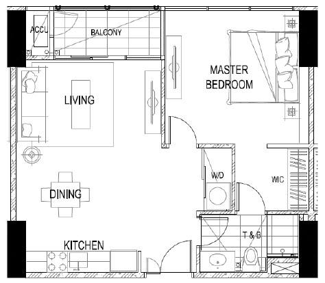 THE ALCOVES 1Bed Room