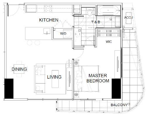 THE ALCOVES (ZEN)1BED Room